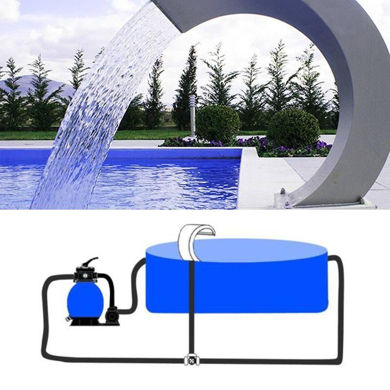 60x30cm Wasserfall Edelstahl Pool Wasser Brunnen Teich Garten Schwimmen Pool Feature Dekorative Hardware Wasserhahn