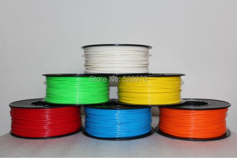 3d imprimante filament PLA/ABS 1.75mm/3mm 1 kg beaucoup de couleurs Consommables Matériel MakerBot/RepRap/kossel 3D impression stylo de haute qualité
