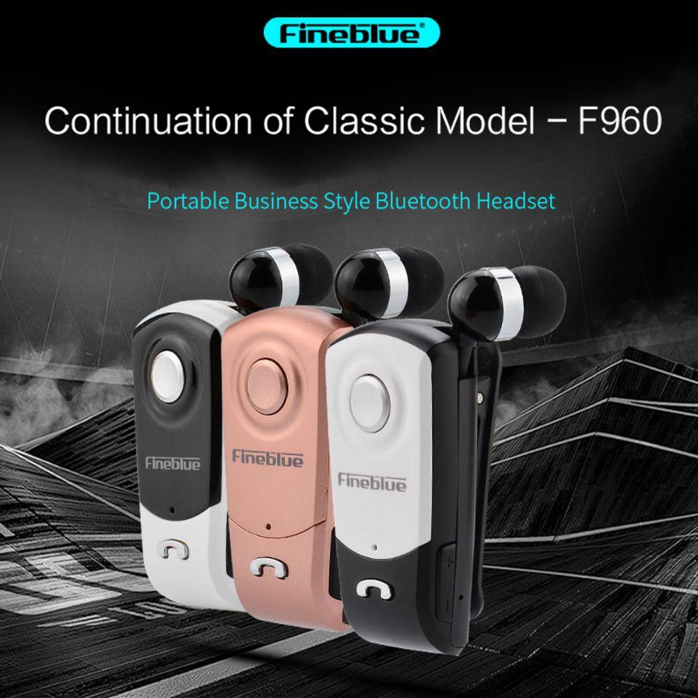 Neue FineBlue F960 Wireless-treiber Bluetooth V4.0 Kopfhörer Anruf Vibration Erinnern Wear Clip Fahrer mit Mikrofon