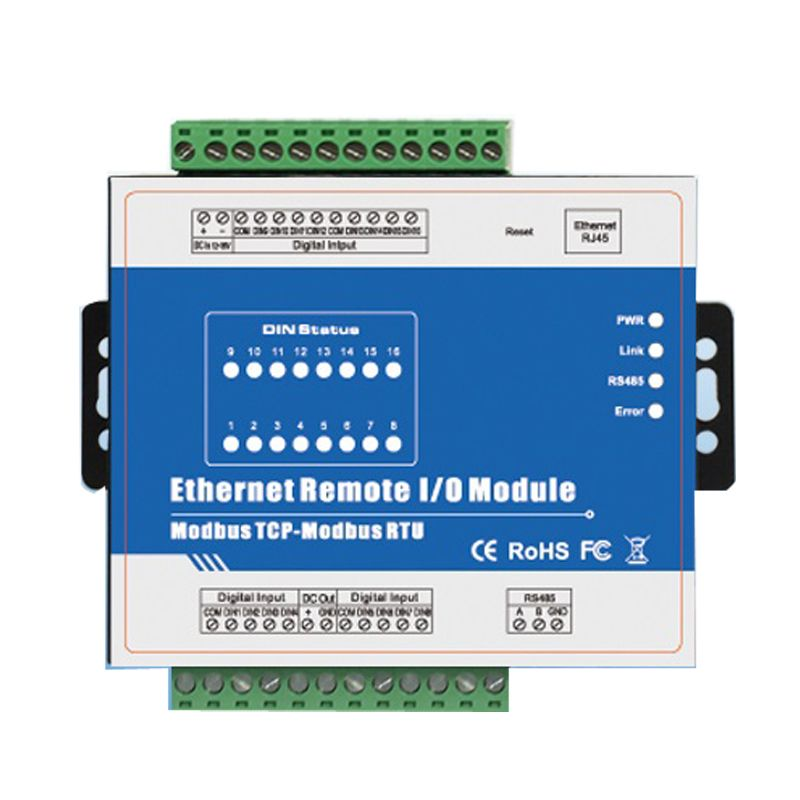 High Speed Pulse Counter Ethernet Remote IO IOT Module Modbus TCP Data Acquisition Module 16 DIN Support Modbus RTU/ASCII Master