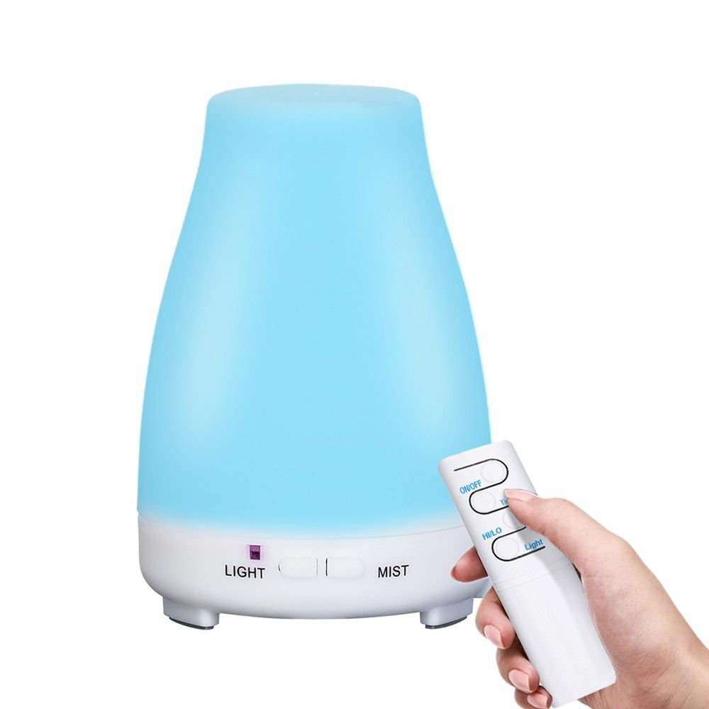 Ultrasonic Humidifier Aromatherapy Oil Diffuser Cool Mist With Color LED Lights essential oil diffuser Waterless <font><b>Auto</b></font> Shut-off