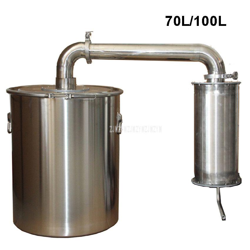 70L/100L Edelstahl Wein Brauen Maschine Brennerei Schnaps Destillation Haushalt Wein, Der Ausrüstung + Wasser Pumpe