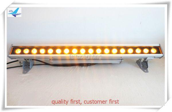 Free shipping 18*18w 6in1 led bar rgbwa uv 6in1 wash bar light led wall washer housing