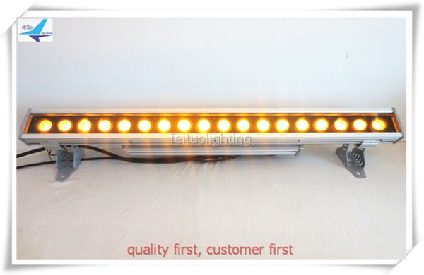 Free shipping 18*18w 6in1 led bar rgbwa uv 6in1 wash bar light led wall washer housing