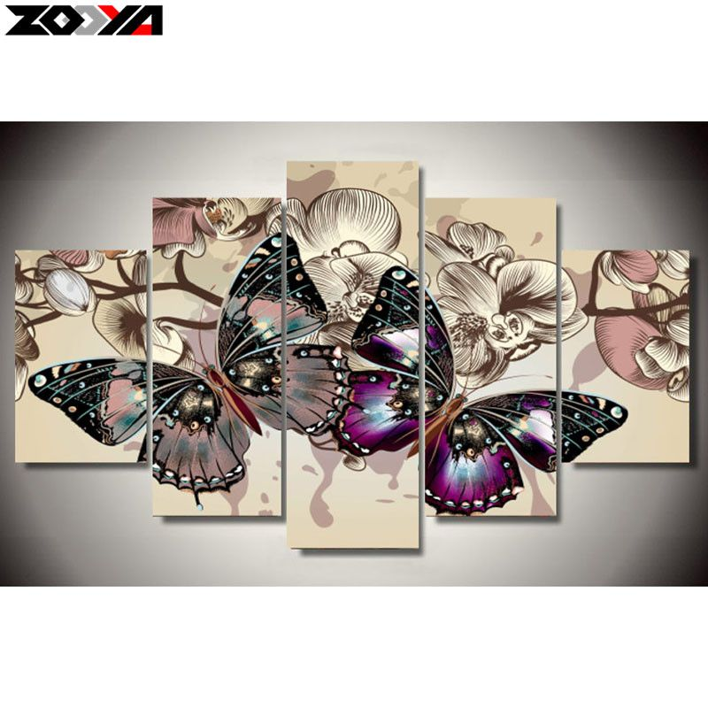 ZOOYA 5d diy Diamond embroidery butterfly lover diamond painting Cross Stitch full drill Rhinestone mosaic Multi-picture decor