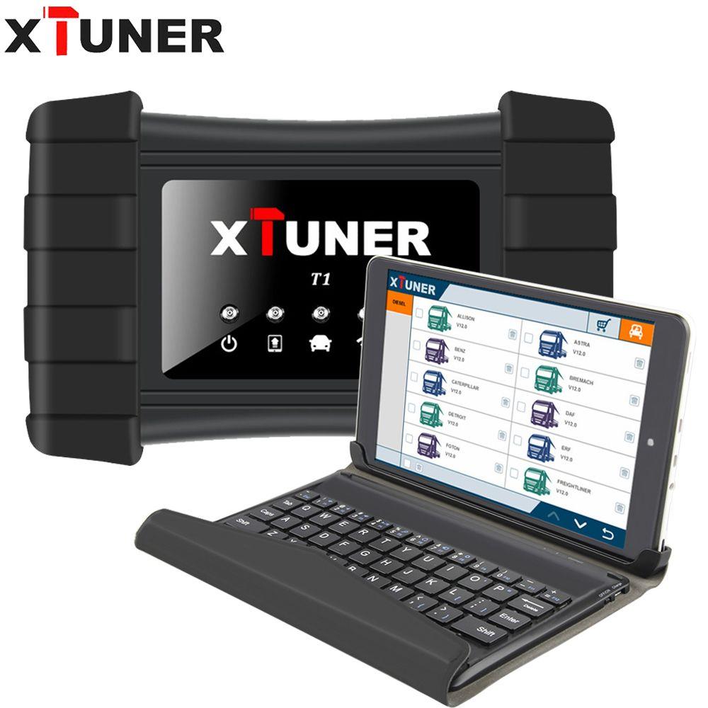Neueste V9.5 XTUNER T1 HD Heavy Duty Lkw Auto Diagnose Werkzeug Mit Lkw Airbag ABS DPF EGR Reset + 8 zoll WIN8 OBD 2 Autoscaner