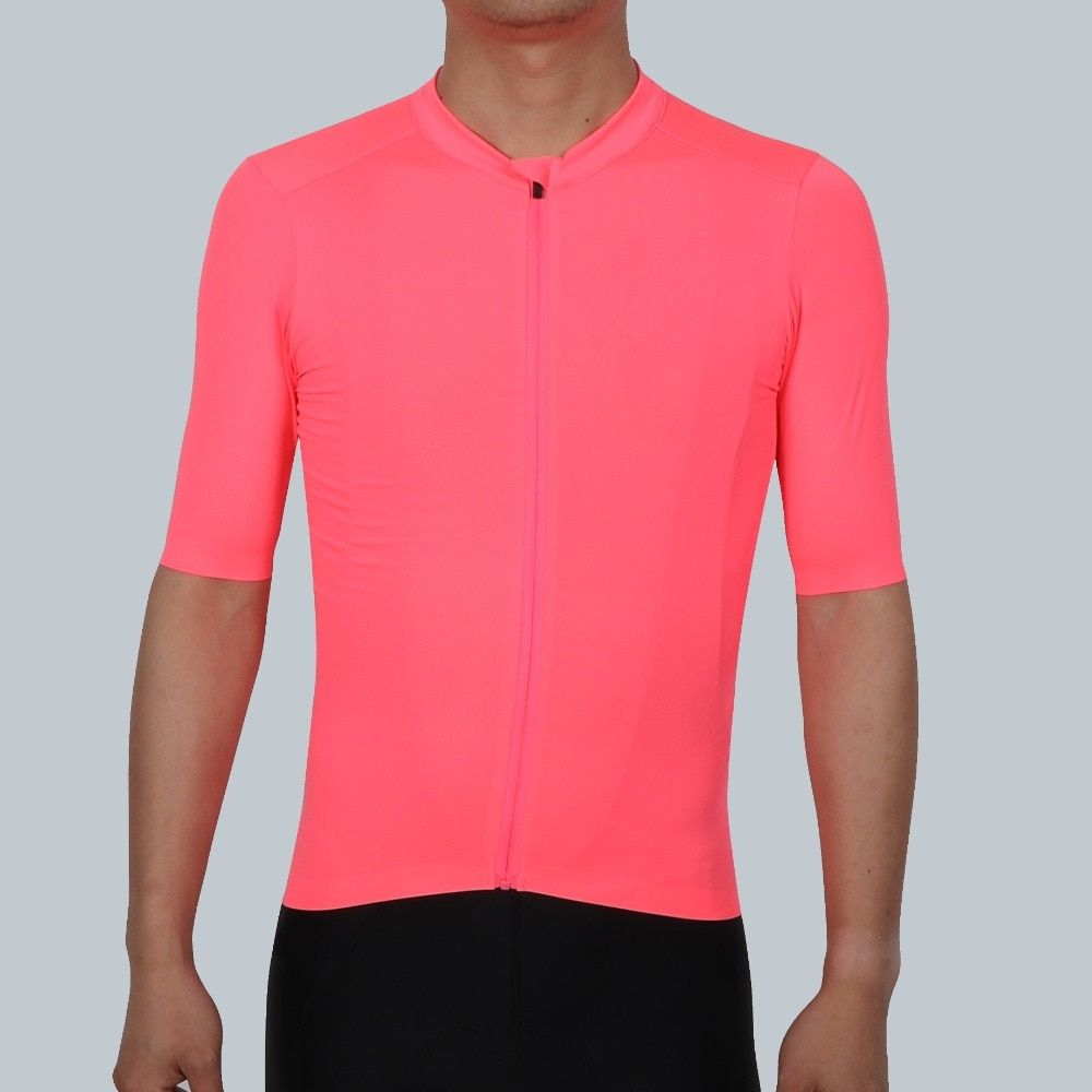 SPEXCEL 2018 ALL NEW High-Vis Pink PRO TEAM AERO Cycling jersey short sleeve Men or women Newest technology fabric Best Quality