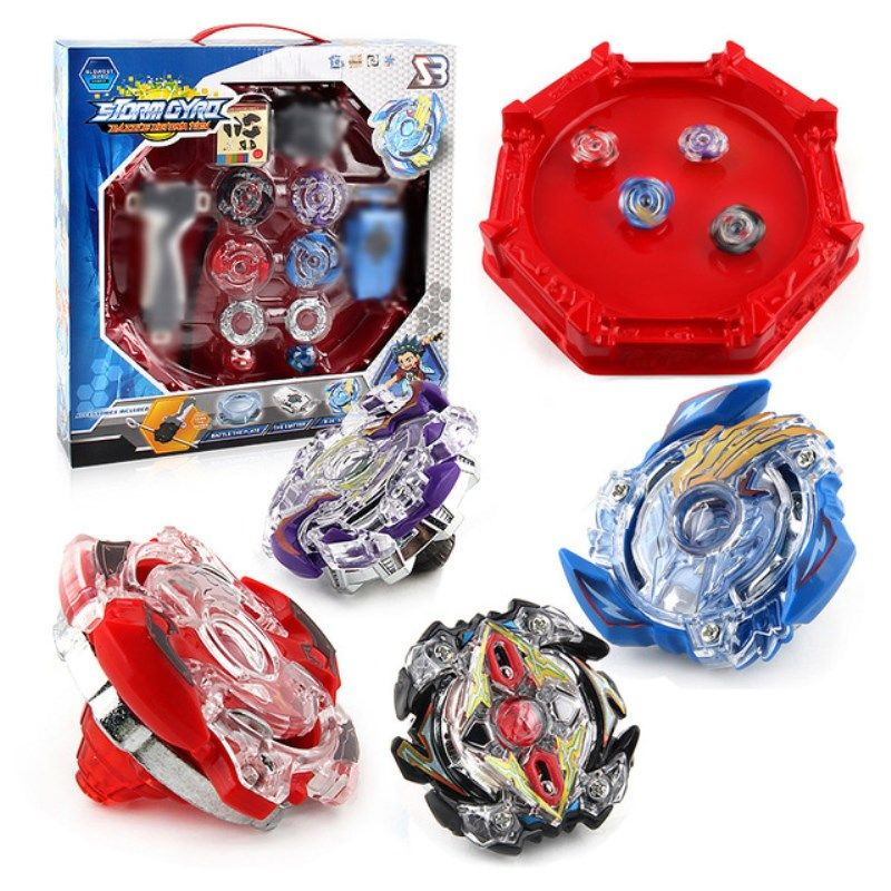 Spin Tops Gyros Burst Stadium Arena Bayblade Metal Funsion 4D Blades Toys With Launcher And Handle With Box #E