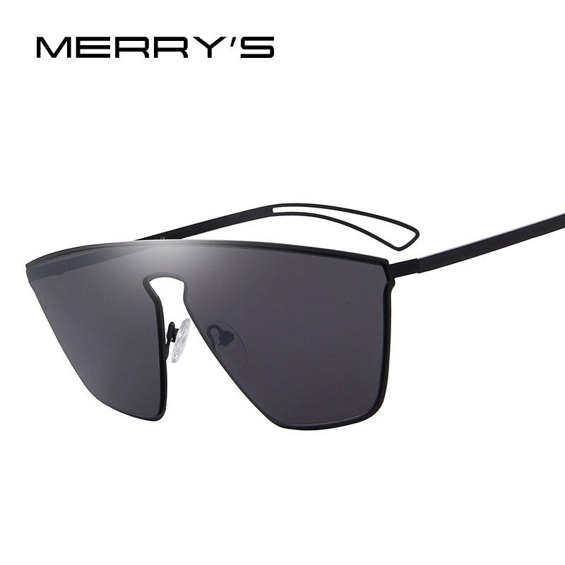 Feliz 2017 nueva llegada mujer clásico marca diseñador Gafas de sol sin rebordes Eyewear integrado s'8097