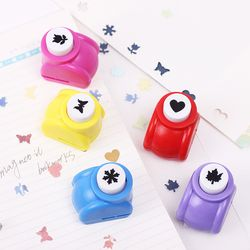 Kid Child Mini Printing Paper Hand Puncher Scrapbook Tags Cards Craft DIY Punch Cutter Tool 6 Styles Hole Punch