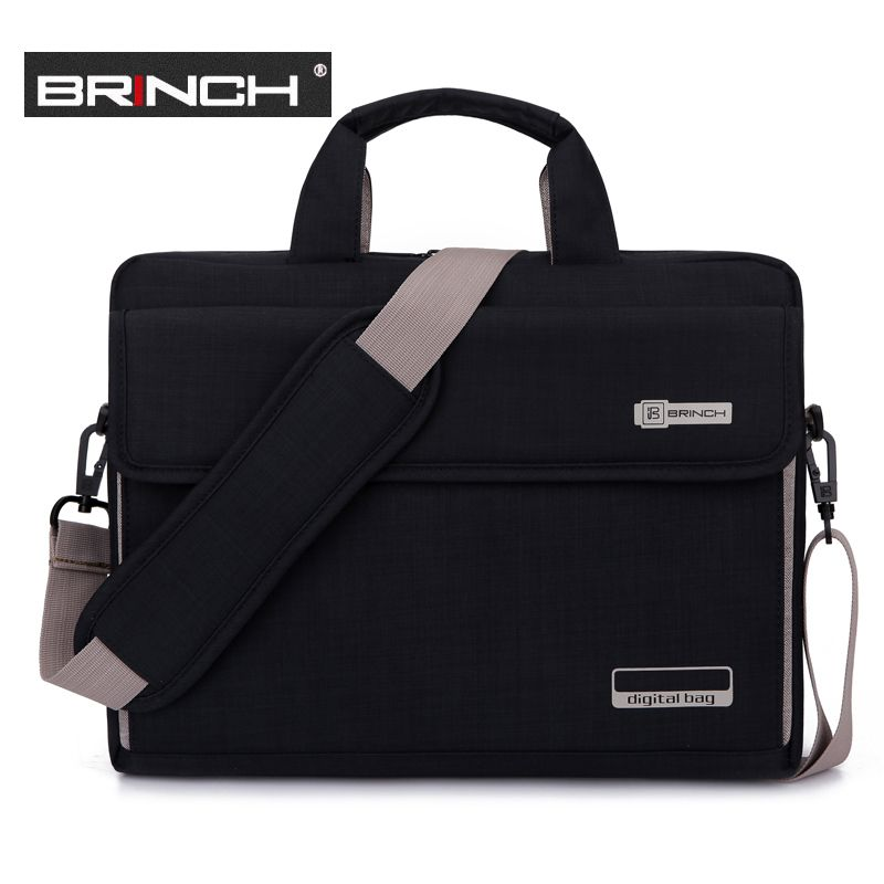 Big Capacity Nylon 13.3 14 15.6 Inch Laptop Handbag Black Shoulder Bag <font><b>Protective</b></font> Case Cover For Macbook Pro Air Reina Hp Sony