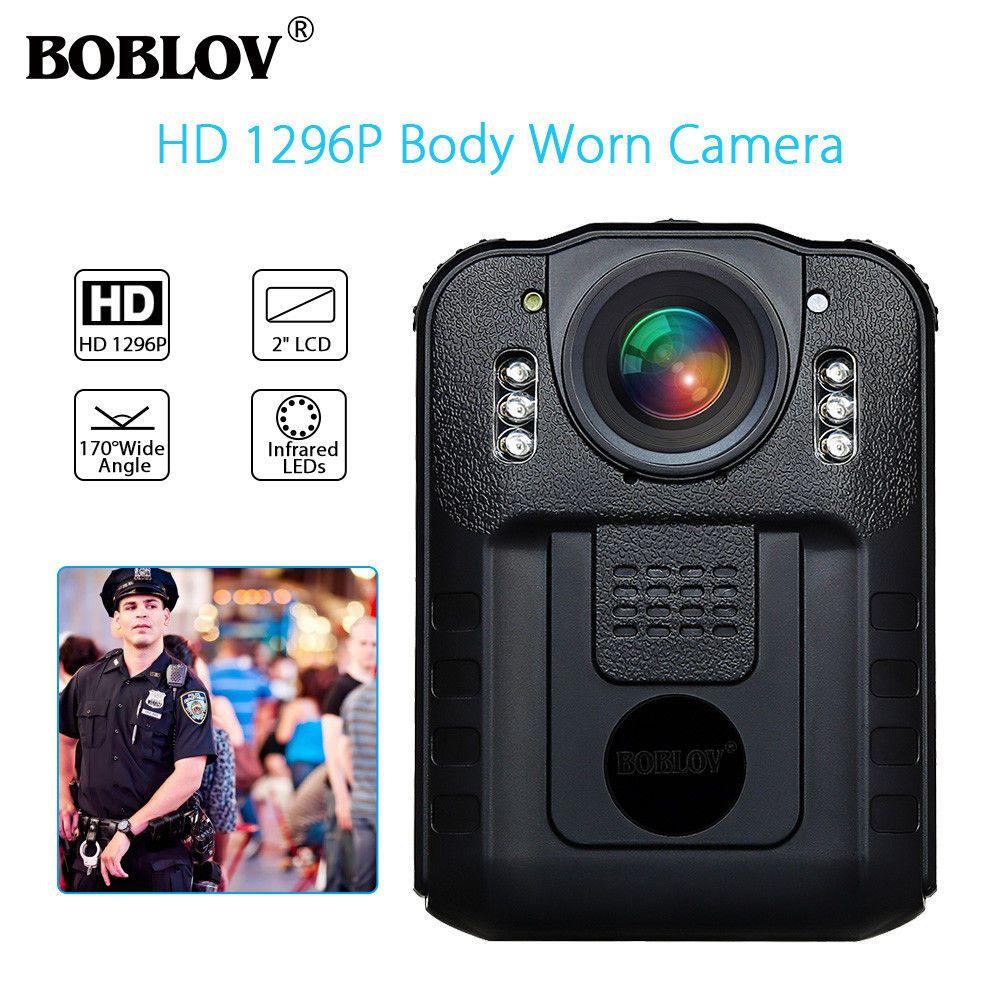 BOBLOV WN9 Novatek 96650 HD 1296P Wearable Body Camera Police 32GB 21MP 170 Degree 2 Inch Screen Security Camera Mini Comcorder