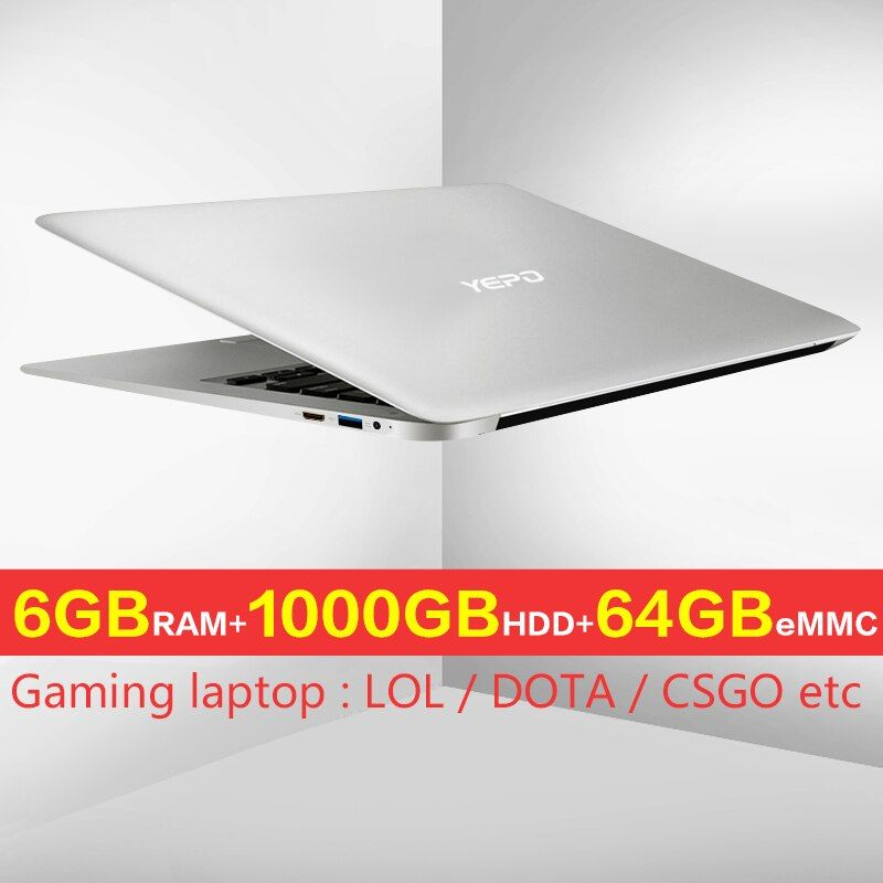 YEPO laptop 15.6 inch 1000GB CAPACITY Ultrabook Intel Apollo Version Celeron laptops 1000G HDD quad core N3450 a laptop