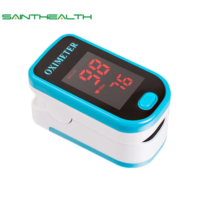 SaintHealth <font><b>Health</b></font> Care LED Finger Pulse Oximeter Blood Oxygen SPO2 PR Oximetro de dedo digital Portable Oximeter a Finger