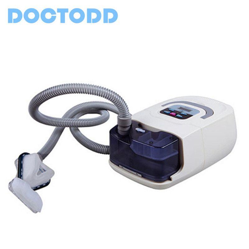 CE FDA Medizinische Tragbare CPAP Maschine Atemschutz für Schlafapnoe OSAHS OSAS Schnarchen Menschen COPD Mit Freies Maske Kopfbedeckungen Rohr tasche
