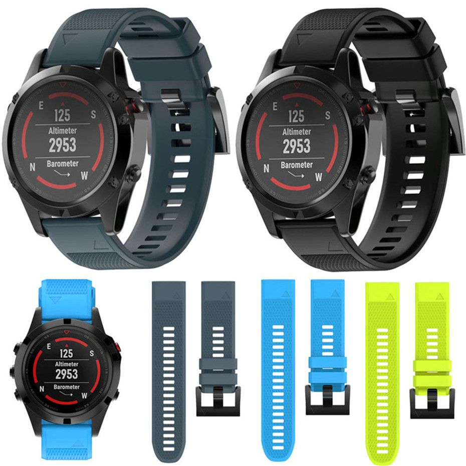 22mm 26mm Watchband Strap for Garmin Fenix 5 5X Plus 3 3HR Watch Strap Quick Release Silicone Band Strap For Forerunner 935 Band
