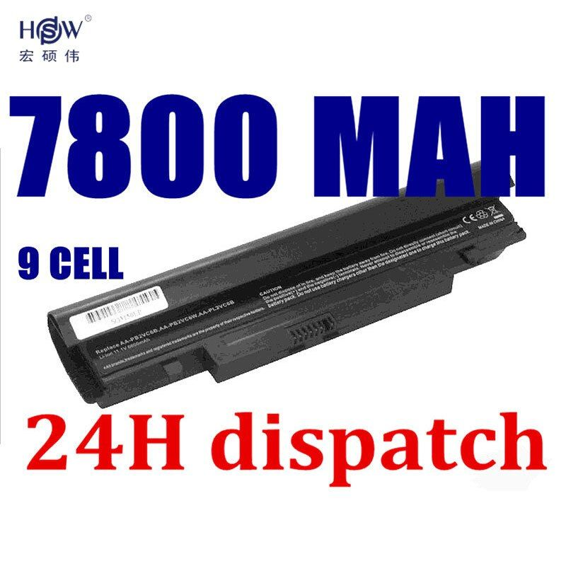 HSW 7800MAH laptop Battery For Samsung N143 N145P N148 N150 N250 N260 AA-PB2VC3B AA-PB2VC3W AA-PB2VC6B AA-PL2VC6B AA-PL2VC6W