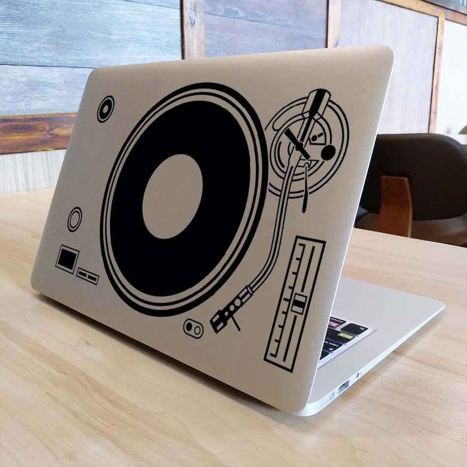 DJ Technics Pont tourne-disque autocollant pour ordinateur portable pour Apple Macbook Decal Air Pro Retina 11