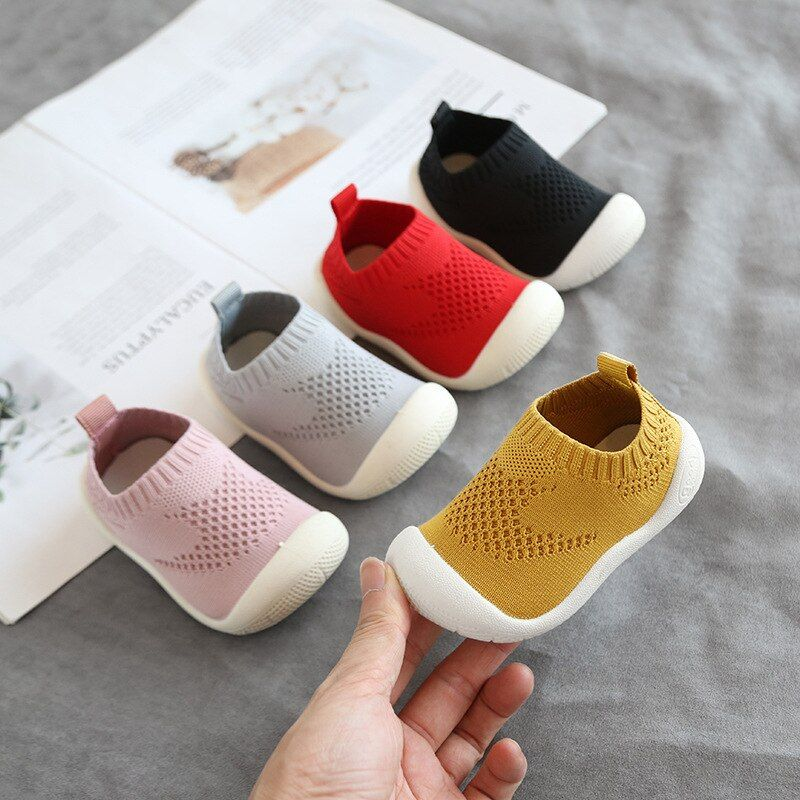 2019 Autumn Infant Toddler Shoes Baby Girls Boys Casual Shoes Soft Bottom Non-slip Comfortable Child Knitted First Walkers Shoes