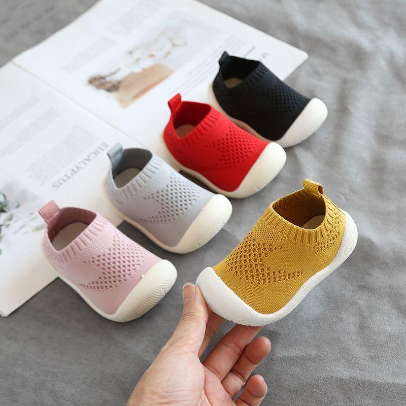 2019 automne bébé enfant en bas âge chaussures bébé filles garçons chaussures décontractées fond souple antidérapant confortable enfant tricoté premiers marcheurs chaussures