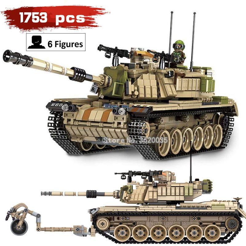 battlefield Corps Main battle M60 MAGACH Big tank 1753pcs compatible legoinglys Military ww2 Building Blocks model figures toy