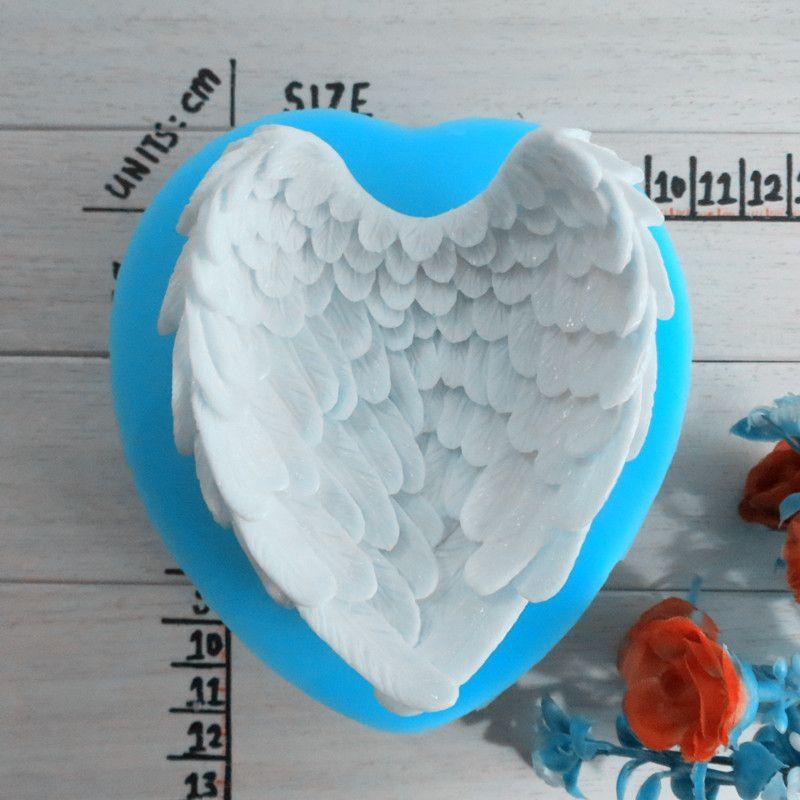Livraison gratuite modélisation de l'ange ailes savon moule à la main savon moule silicone savon moule haute qualité modélisation moule