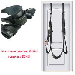 Sex Toys For Couples leather BDSM Swing Hanging Door Trapeze Restraint Belt Erotic Positioning Bandage Adult womanizer Game Shop