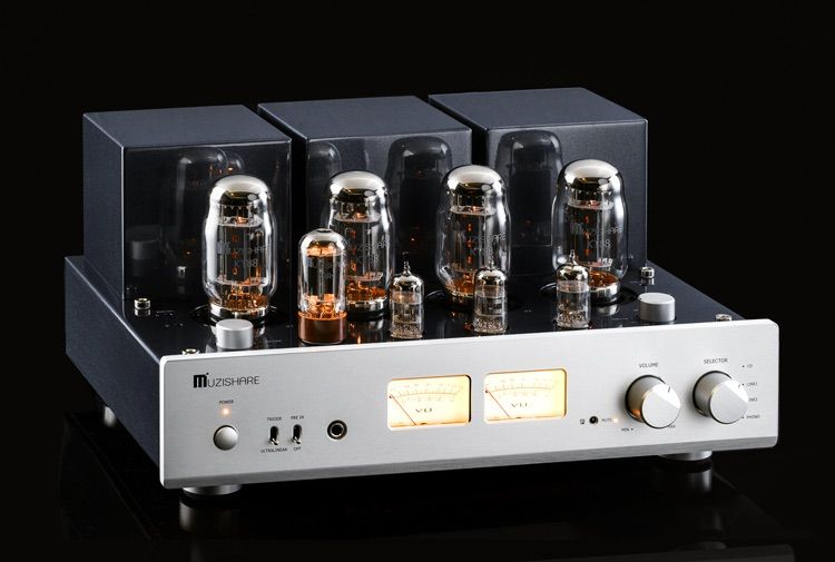 MUZISHARE X7 KT88 Push-Pull tube amplifier HIFI EXQUIS GZ34 Lamp Amp Best Selling With Phono and Remote