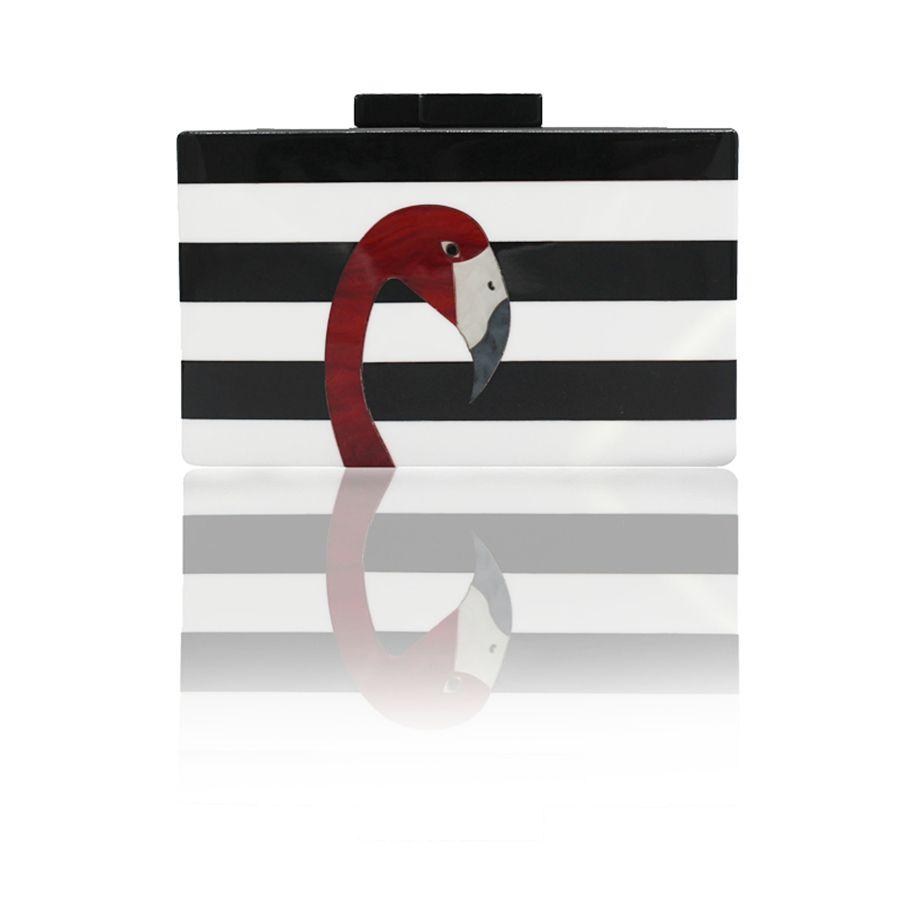 2017 limitée dans Le Temps Vente Partie Polyester Dur Épaule Sacs Rabat Femmes Pochette de Marque Européenne Haut de gamme Élégant Et Flamingo Embrayage