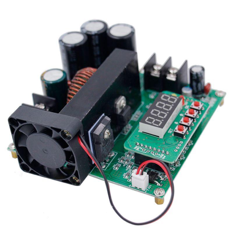 B900W adjustable boost module Constant voltage current Transformer Module <font><b>Regulator</b></font> Input 8-60V to 10-120V 900W 39%OFF