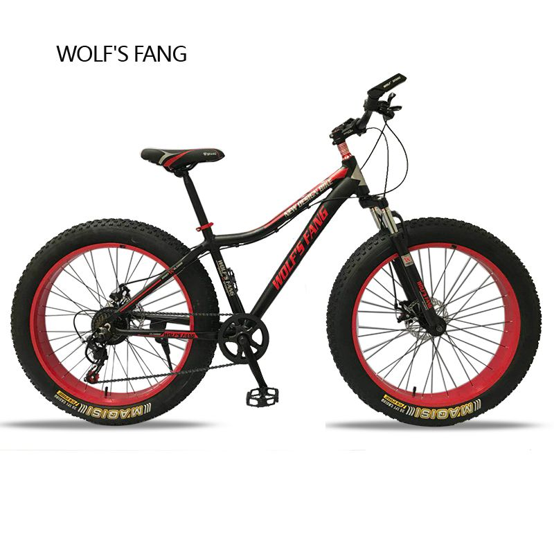 Mountain Bike 7Speed bicycle Cross-country Aluminum Frame 26x4.0 Fat bike Snow road bicycles Spring Fork Unisex Aluminum Alloy