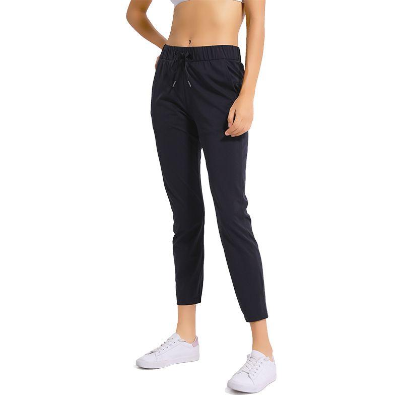NWT femmes entraînement Leggings de course 4 voies tissu extensible Super qualité pantalons de Yoga avec poches latérales collants de sport en plein air
