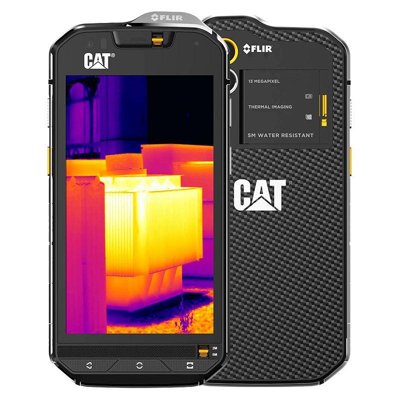 Original S60 FLIR infrarot Wärmebildkamera 13.0mp Octa-core Android 6,0 ip68 Robuste, Wasserdichte Telefon 4G LTE GPS 3 GB RAM KATZE