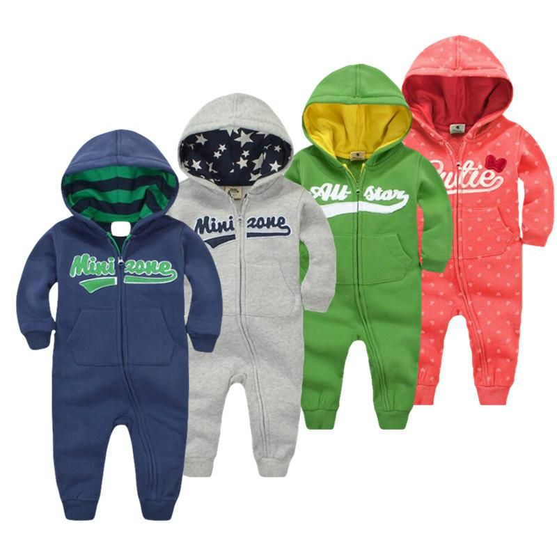 2018 spring <font><b>Baby</b></font> rompers Newborn Cotton tracksuit Clothing <font><b>Baby</b></font> Long Sleeve hoodies Infant Boys Girls jumpsuit <font><b>baby</b></font> clothes boy
