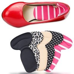 Forma de T plantillas zapatos de tacón alto pad plantilla súper suave antideslizante esponja Cojines Foot Heel protector