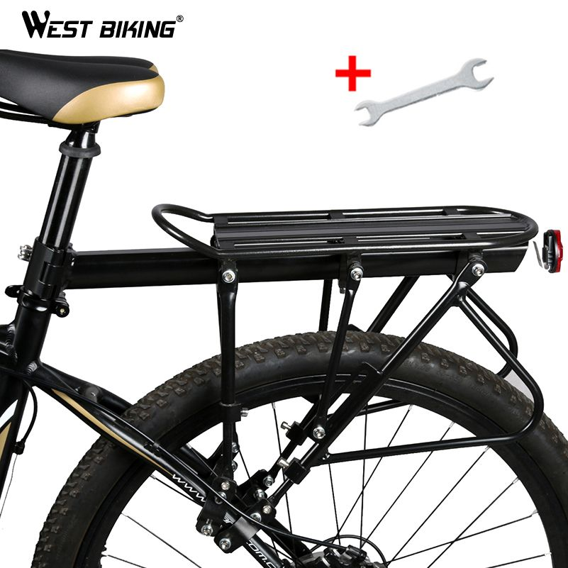 WEST BIKING Bicycle Racks 140 KG Load Luggage Carrier Cargo Aluminum Alloy Rear Rack Cycling Seatpost Bag Holder Stand Bike Rack