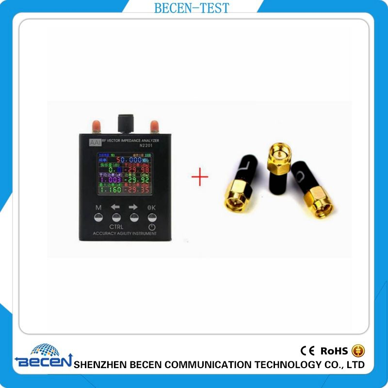 N2201SS 137.5MHZ to 2.7GHZ UV RF Vector Impedance ANT SWR Antenna Analyzer Meter Tester +3.5mm SMA-J Calibration