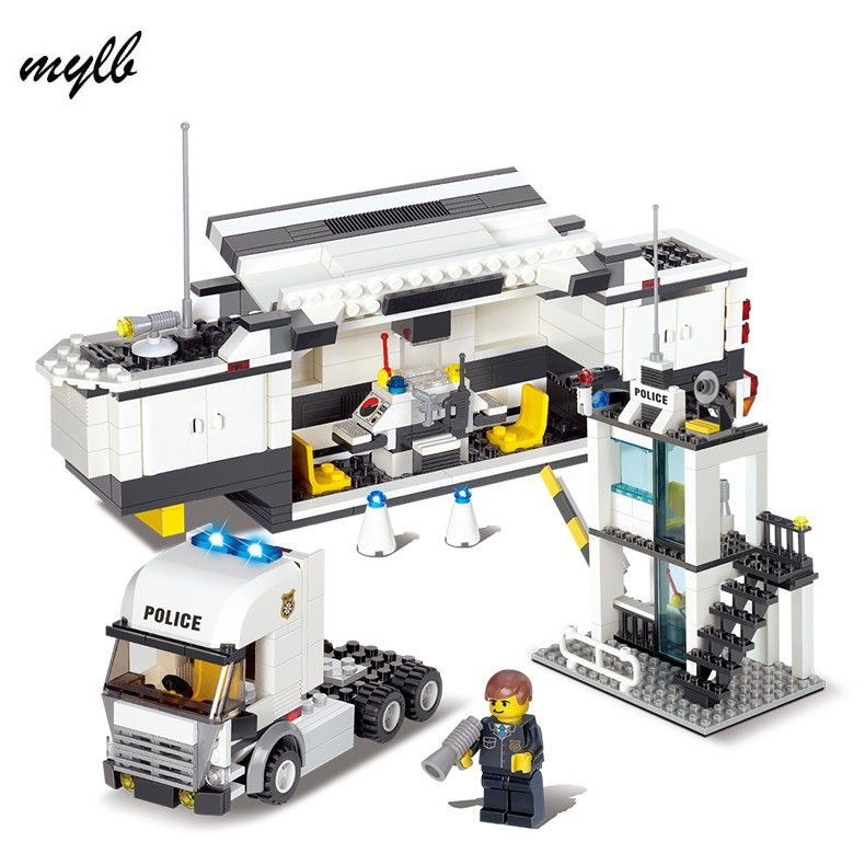 mylb 511pcs police Station Building Blocks Bricks Educational Toys Compatible with all brand city Birthday Gift Toy Brinquedos