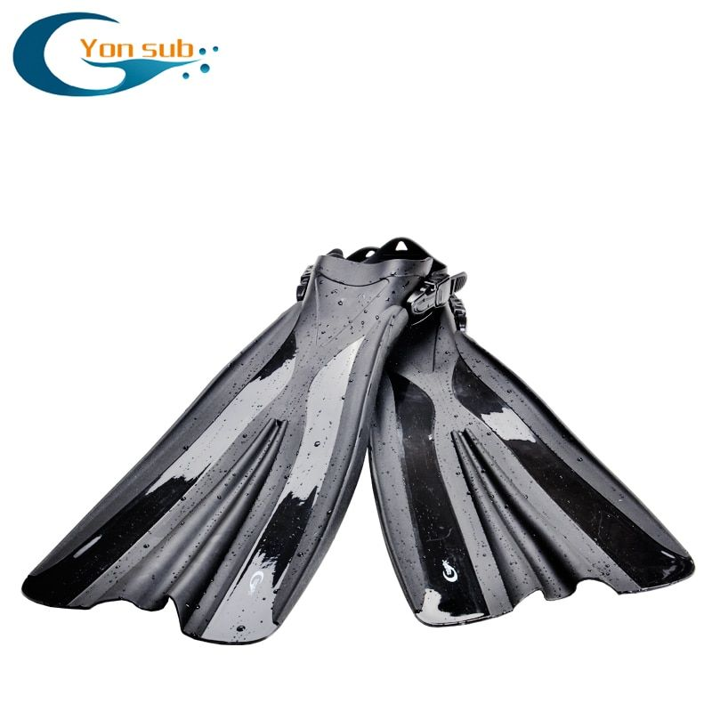 Long Flipper Professional Scuba Diving Fins For Snorkeling TPR Non-slip Adjustable Open Heel Underwater Hunting Diving Fins
