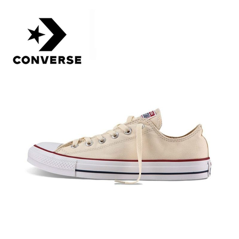 Authentic Converse ALL STAR Classic Breathable Canvas Low-Top Skateboarding Shoes Unisex Hard-Wearing Sneakers Anti-Slippery
