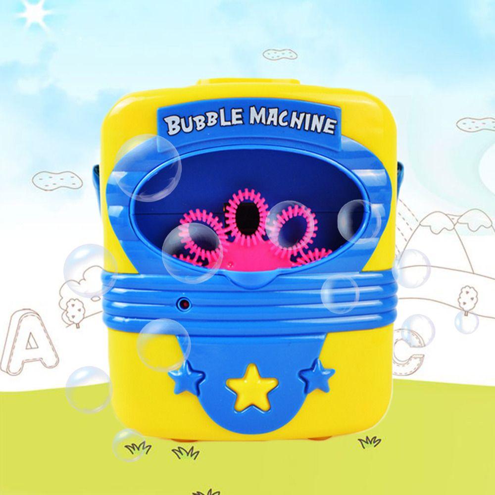 Automatique électrique pratique Machine à bulles jouets savon coup bulles souffleur fabricant bulle soufflant spectacle enfants intérieur Sports de plein air jouet