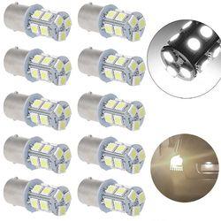 10x White 1156 BA15S 5050 3 chips SMD RV Camper Trailer LED Interior Light Bulbs 12 V 6000K 40mm