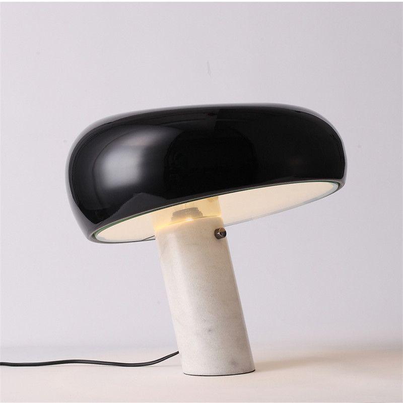 Italienische Marmor Tisch Lampe Pilz Weiß Schwarz Hut Tisch Licht Moderne Luxus Hotel Schlafzimmer Studie Auge Room Home Beleuchtung G810