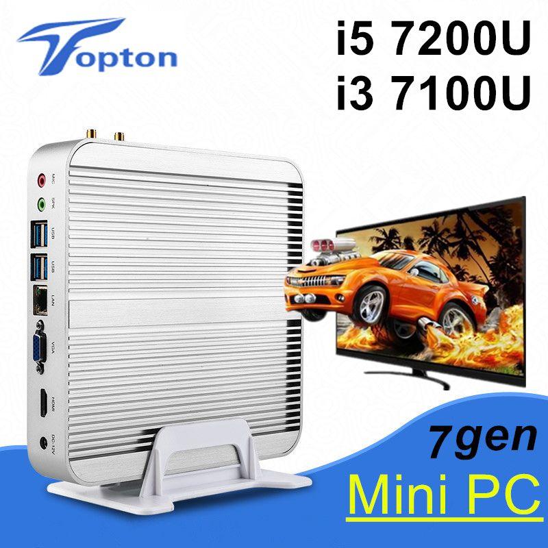 Eglobal New Kaby Lake Mini PC Intel Core i5 7200U i3 7100U 4K HTPC Intel HD Graphics 620 Gaming PC Ultra Nettop 3-year warranty