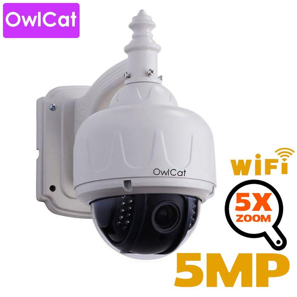 Caméra dôme de vitesse IP sans fil OwlCat HD 2mp 5mp PTZ Wifi sécurité extérieure CCTV 2.7-13.5mm mise au point automatique 5X Zoom carte SD ONVIF Audio