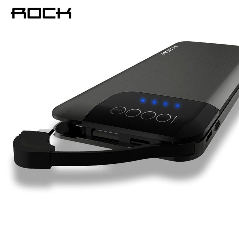 ROCK Power Bank 10000mAh Quick Charge for Huawei 5V/9V/12V QC 3.0 Portable External Battery Powerbank with Digital Display