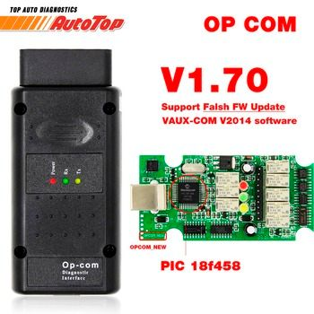 2019 OP COM for Opel V1.70 OBD2 OP-COM Car Diagnostic Scanner Real PIC18f458 OPCOM for Opel Car Diagnostic Tool Flash Firmware