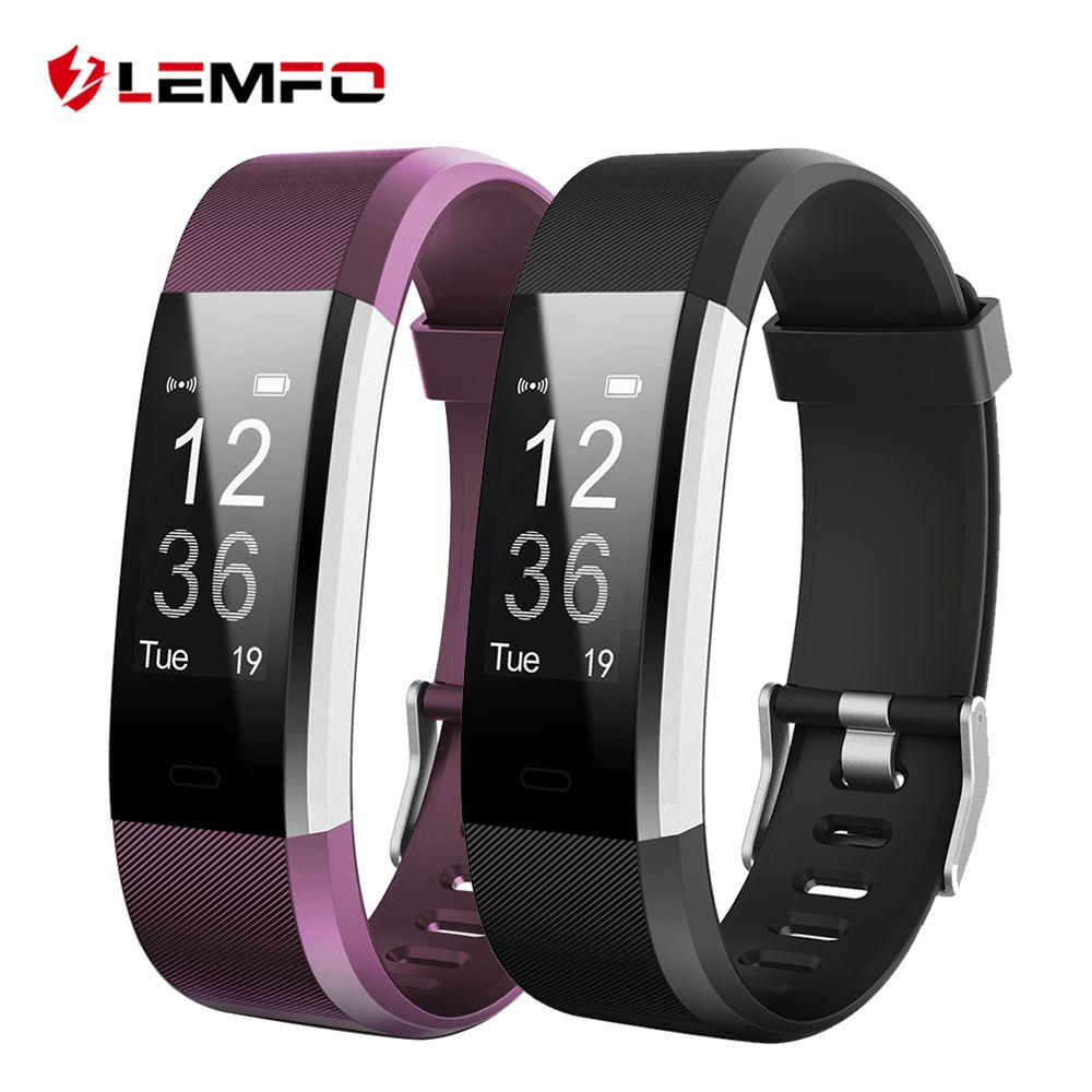 LEMFO ID115 HR Plus Smart Bracelet Fitness and Sleep Tracker Pedometer Heart Rate Monitor Smart band Wristband
