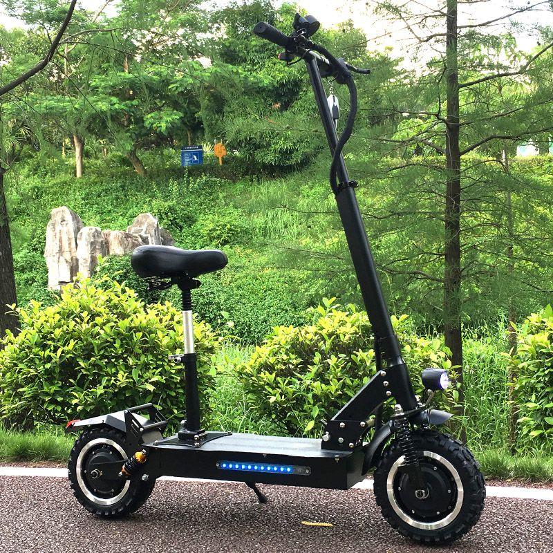 FLJ Erwachsene Elektrische Roller mit 60 V/3200 W Motoren Leistungsstarke Tretroller fett reifen Faltbare elektro-scooter erwachsene