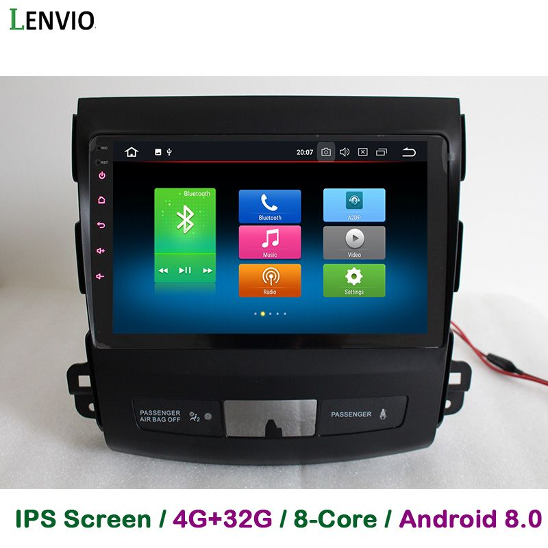 Lenvio IPS 4G RAM 32G ROM Octa Core Android 8.0 Car DVD GPS Navigation player For Mitsubishi Outlander 2006 2007 2008 2009-2012